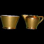 Vintage Pickard Creamer and Sugar Bowl, c 1940 -1950
