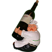 Whimsical Vintage Chef Bottle Holder