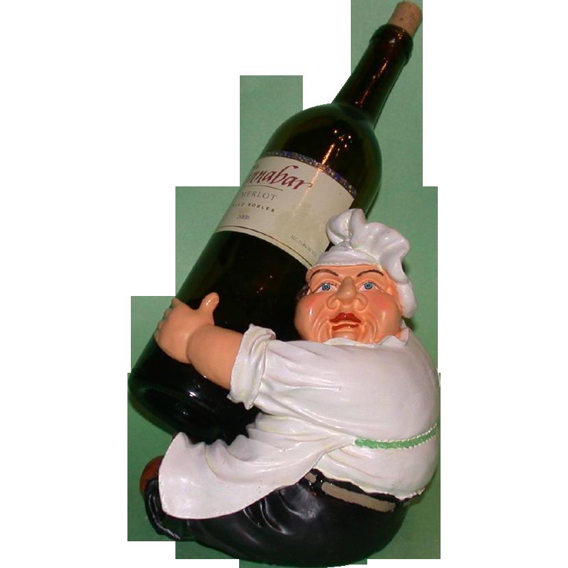 Whimsical Vintage Chef Bottle Holder