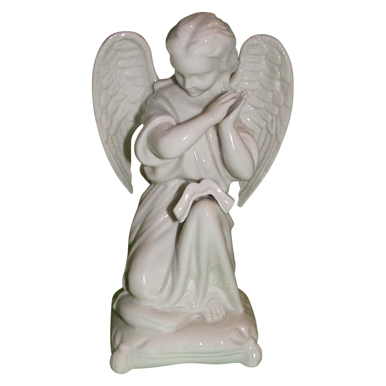 Very Rare Boehm Angel On Pillow, c 1954, Signed