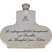 "Unusual Large Porcelain Dealer's Sign, ""Koniglich priv. Tettau"""