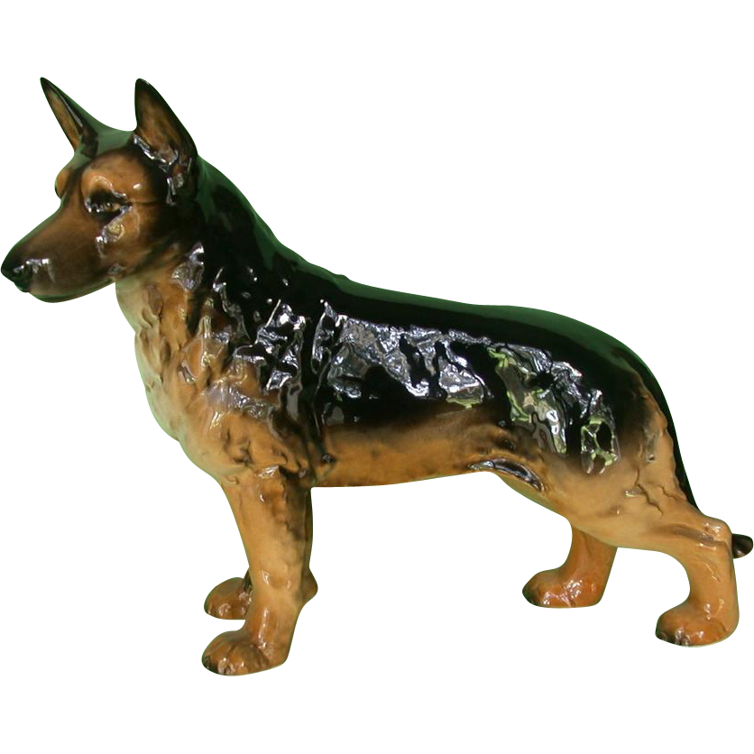 Huge  Signed Goebel German Shepherd, West Germany