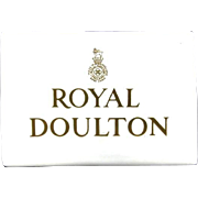 Royal Doulton Vintage Porcelain Dealer/Shop/Display Sign