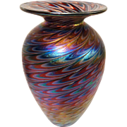 Exquisite Signed Art Glass Vase