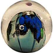 JOSH SIMPSON Signed and Dated Inhabited Planet Paperweight - One Of A Kind!