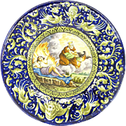 Large 20th Century Italian Majolica Charger