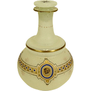 Antique Gilt and Enamel Decorated Opaline Glass Vanity Decanter