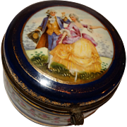 Vintage Dresser Box With Romantic Scene, From Czechoslovakia (Prior to  Czechoslovakia split into the two sovereign states of the Czech Republic and Slovakia.)