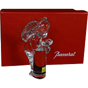 BACCARAT Crystal Angel/Cherub With Flowers, With Original Box