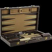 REDUCED Vintage Pierre Cardin Traveling Backgammon Set in Attache.
