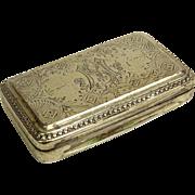 Antique Sterling Silver Snuff Box.