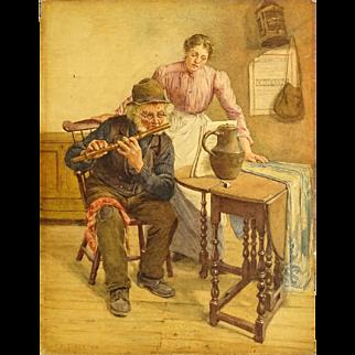 "FREDERICK McNAMARA EVANS, (British 1859 - 1929) ""The Rehearsal"" Signed and Dated 1902."