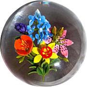 KEN ROSENFELD Limited Edition Signed Glass Art Paperweight One of only Ten - 1/10