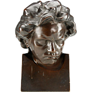 """Beethoven"" Sculpture in Terracotta,Signed PELESCHKA"