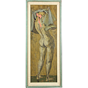 "DONN DEVITA (American 20th Century) - ""NUDE""  Original Signed Oil"