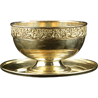REDUCED Sterling Silver Underplate And Silver-Plated Bowl
