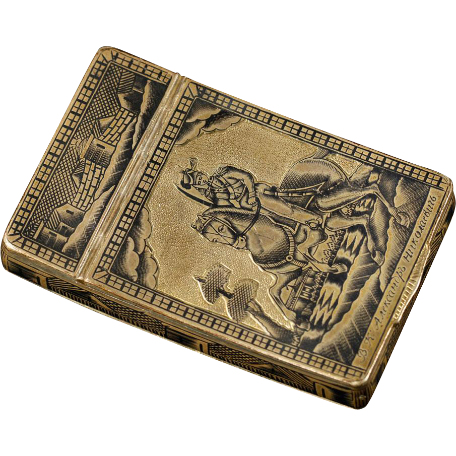 Russian Silver Czarist Snuffbox, Made by Ivan Kaltikov in Moscow, Russia, circa 1825, Well-Hallmarked
