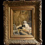 "CHARLES VAN DEN EYCKEN II (Belgian, 1895 - 19223), ""Les Artistes dans les Coulisses,"" Original Oil On Canvas, Signed/Dated 1916."