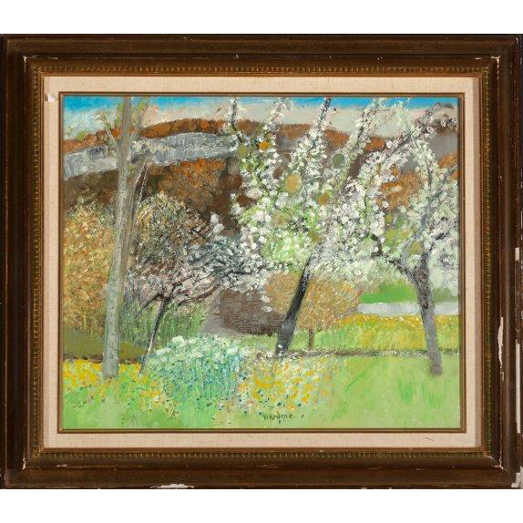 "GUY BARDONE (French b. 1927) - ""Le Pre Fleuri"" - Original Signed Oil On Canvas"