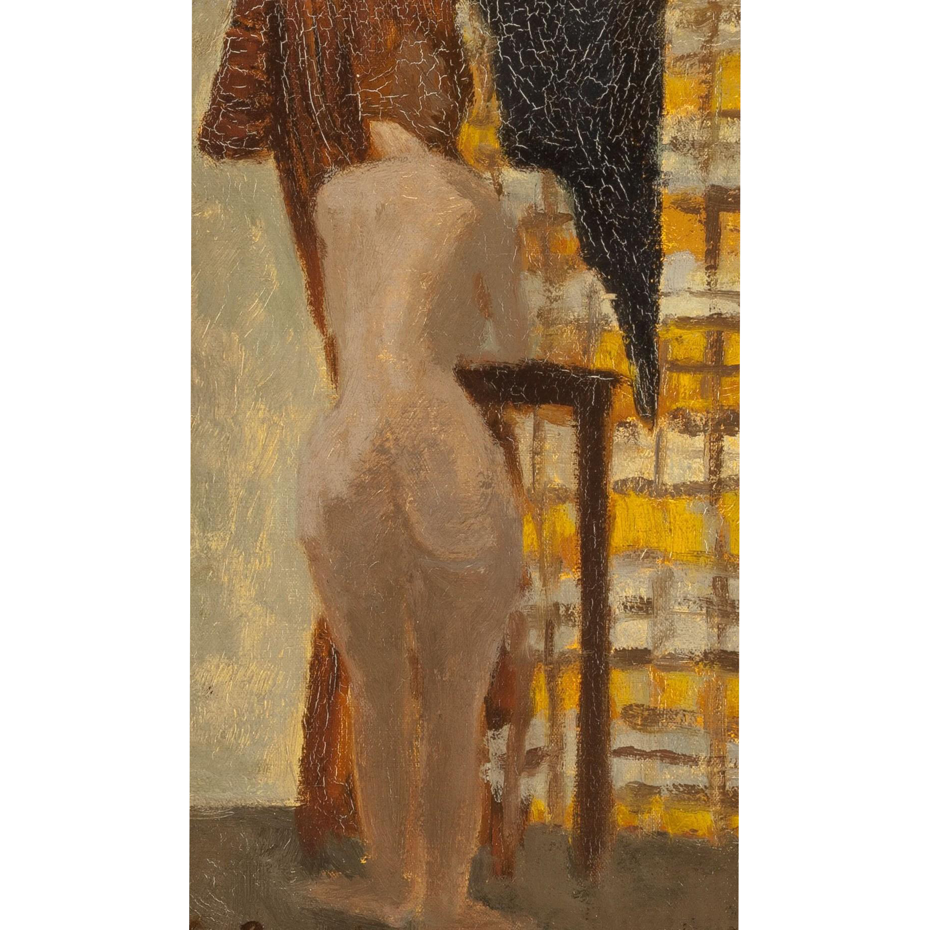 "CHARLES BARRAUD (Swiss 1897-1997) - Original Signed Oil On Canvas ""Nude Waiting"""