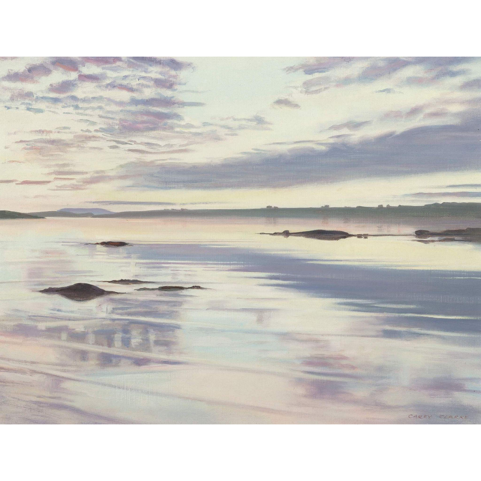 "CAREY CLARKE (Irish,b. 1936) - ""Still Waters"" Original Signed Oil On Canvas"