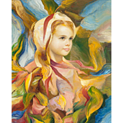 "FRANCISCO J.J.C. MASSERIA (Argentinian 1926 - 2002) -  Original Signed Impressionist Oil on Canvas - ""EMMA"""