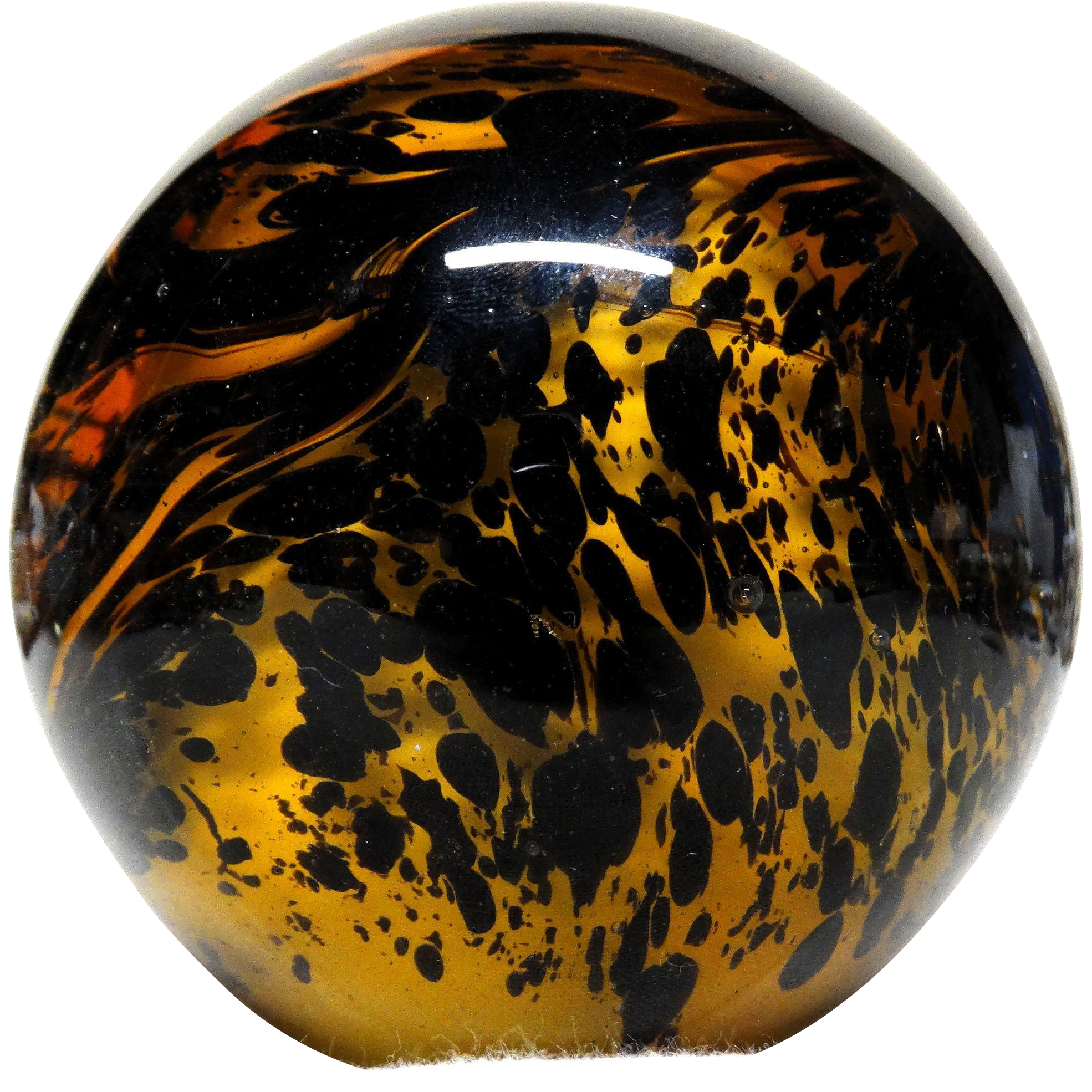 MURANO Large Art Glass Paperweight, Wonderful Abstract Swirling Design, Italy