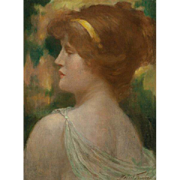 "ROBERT FOWLER  (British/Scottish 1853 – 1926) - ""Classical Maiden""  Original Signed Oil On Canvas"