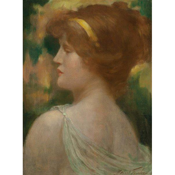 "ROBERT FOWLER  (British/Scottish 1853 – 1926) - ""Classical Maiden""  Original Signed Oil On Canvas"