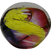 "CHAOS Paperweight - ""Ace Of Hearts"" - Definitely Attention-Getting - Colorful, Swirling Abstract Art"