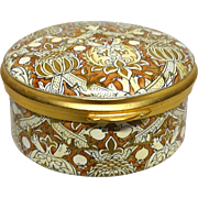 William Morris Collection, Limited Edition Hand-Painted Signed/Numbered  Enamel Box by Staffordshire Enamels, England