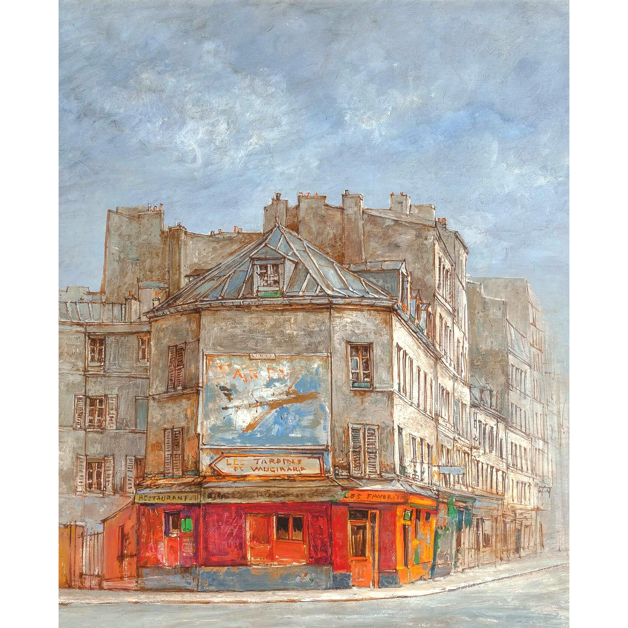 "JEAN KEIME (French, b. 1932) - ""Rue de Vanguard"" Original Signed Oil On Canvas"