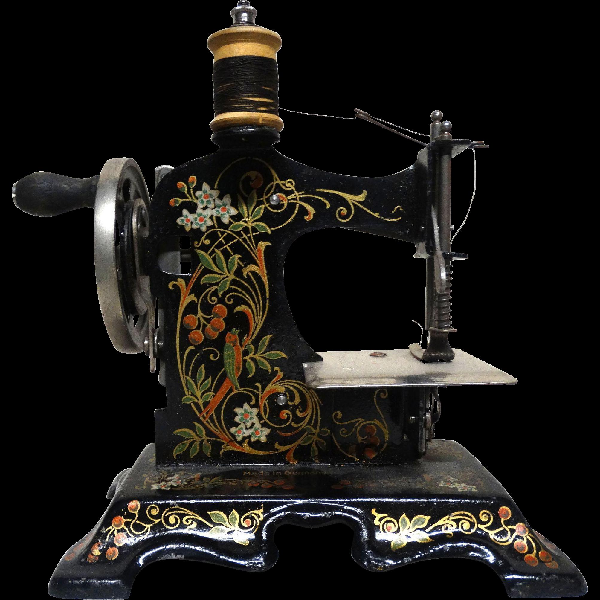 Antique German Miniature Child's Sewing Machine In ...