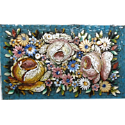 Micromosaic In High Relief, With Two Additional Tiny Pietra Dura, One On Each Side, In A Lovely Base,