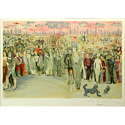 """MARCEL (MIME) MARCEAU, (French, 1923-2007) - Signed/Numbered Colored Lithograph """"Le Voyage de Bip"""""""