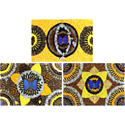 THREE Brazilian Butterfly Wing Collage Artwork - Like a Breath Of Spring!