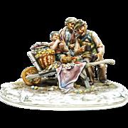 BORSATO -  Signed Multi-Figural Porcelain Sculpture - Superb!