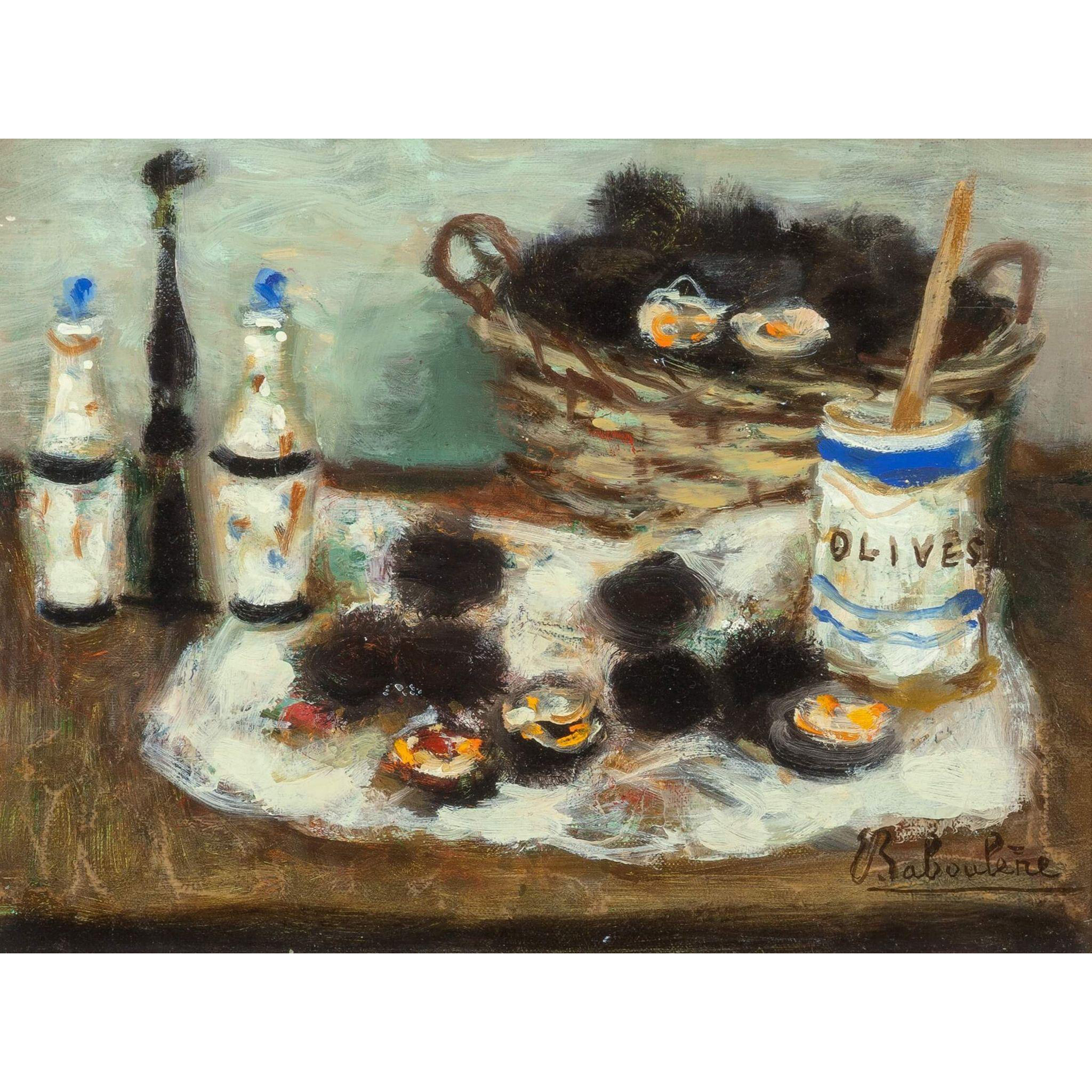 "EUGENE BABOULENE (French 1905-1994) - Original Signed/Dated  Oil On Canvas ""Nature Morte aux Oursins"" (""Still Life With Sea Urchins"")"