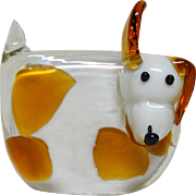 """Snoopy The Spotted Dog"" Blown Glass Paperweight - Absolutely Adorable!"
