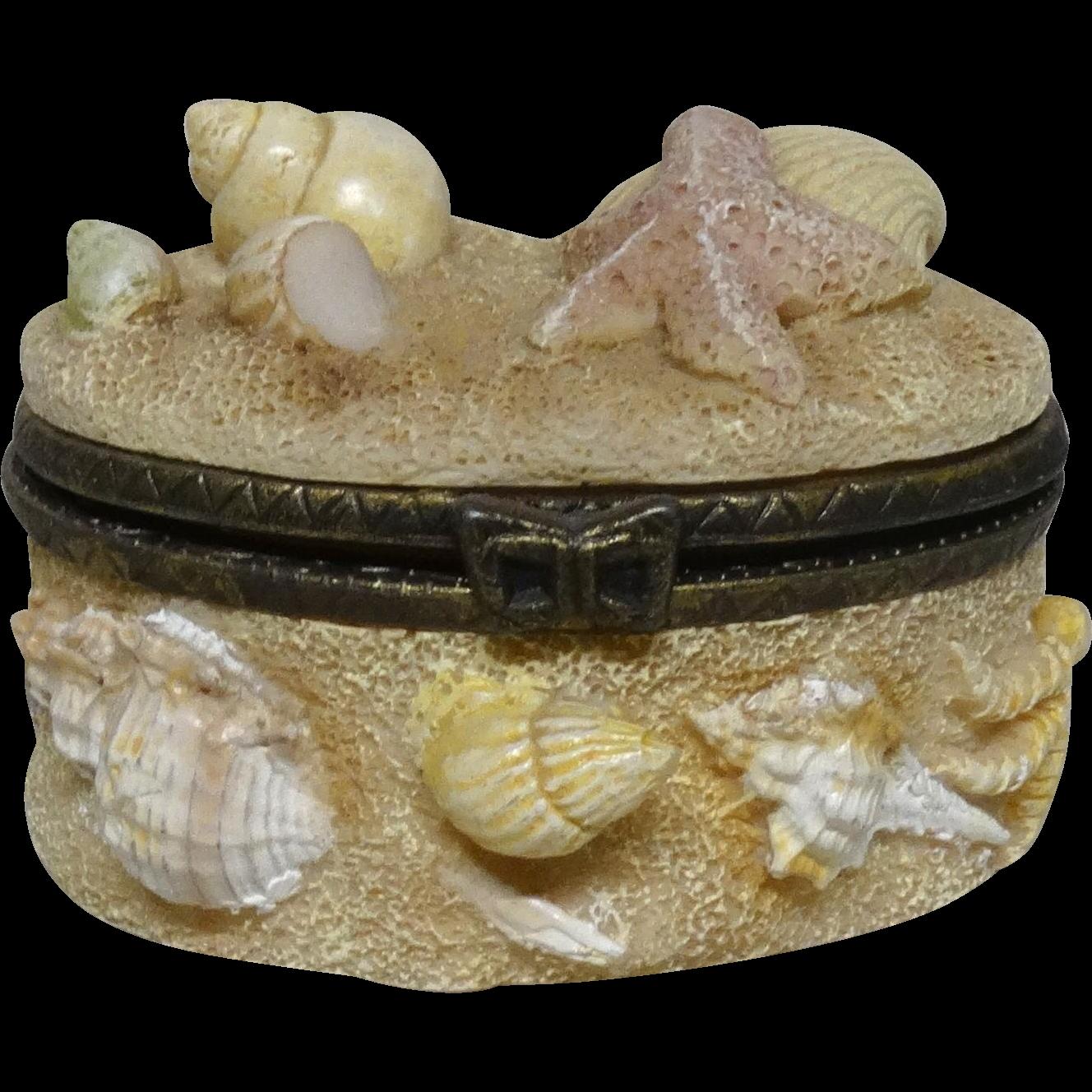 """Sea Shells and Sand"" Trinket Box or Dresser Box"