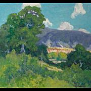 """PETER LANZ HOHNSTEDT (American, 1872 - 1957) Original Signed Oil """"Summer Landscape"""""""