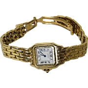 CARTIER 18k Ladies Watch, Understated Elegance.