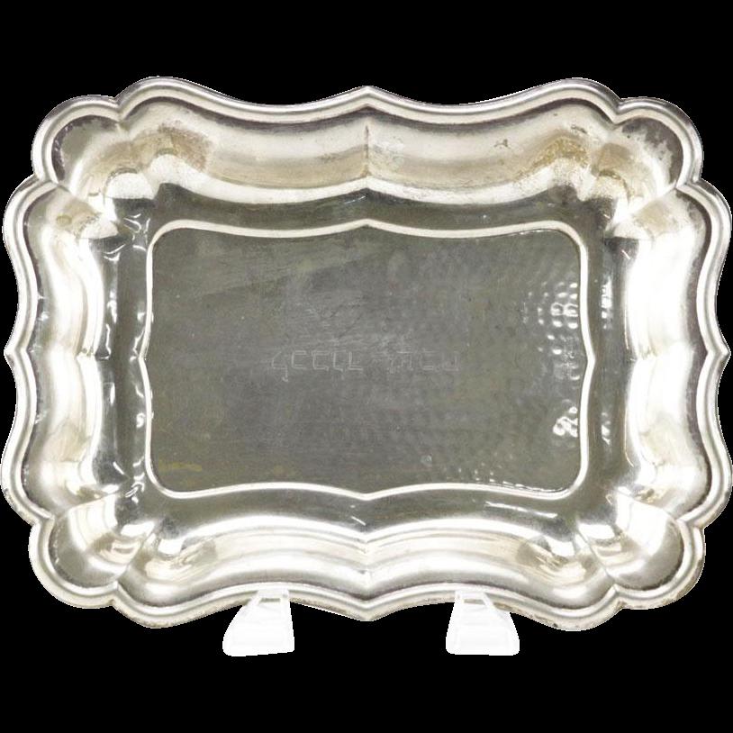 Greggio Rino .800 Battuto a Mano Continental Silver Dish
