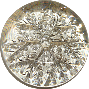 Christmas Snowflake Intaglie Paperweight