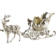 Continental 800 Silver REINDEER Sled or Gravy Boat - A Must Have For The Holidays!