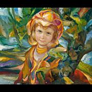 "FRANCISCO J.J.C. MASSERIA (Argentinian 1926 - 2002) - Original Signed Oil on Canvas - ""Monica"""