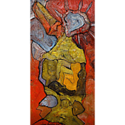 "ALEXANDER GORE (Russian/American 20th Century) Original Abstract Oil Painting Signed, With COA   ""LIBERTY""  Great Rendition of The Statue Of Liberty"