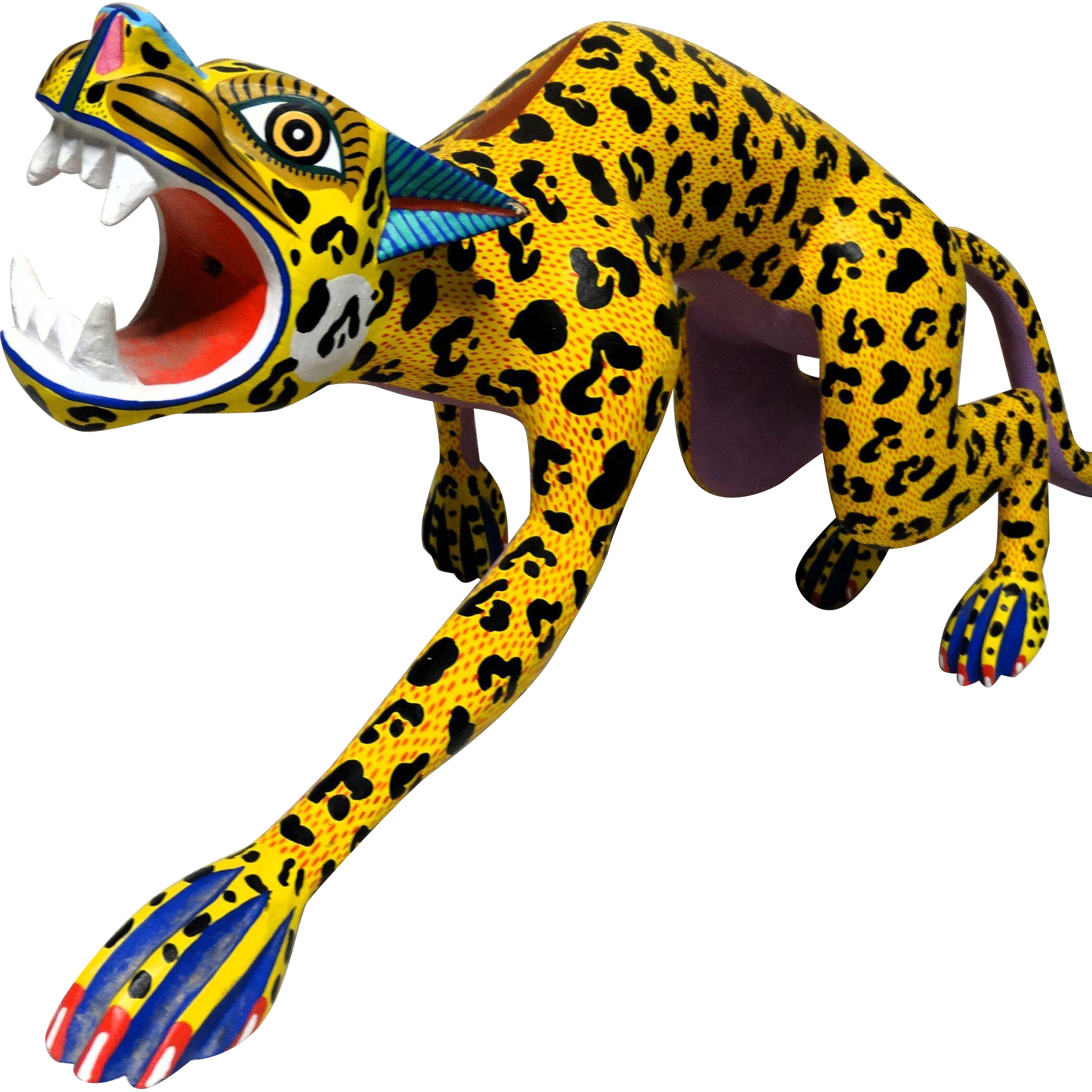 "JACINTO MANDARIN (Mexican, 20th Century) - Original Signed Sculpture ""Jaguar""  Large and Impressive!"