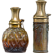 TWO R. LALIQUE Glass Atomizers For Molinard, Figurines et Guirlandes, and Calendal  - Circa 1923 & 1927