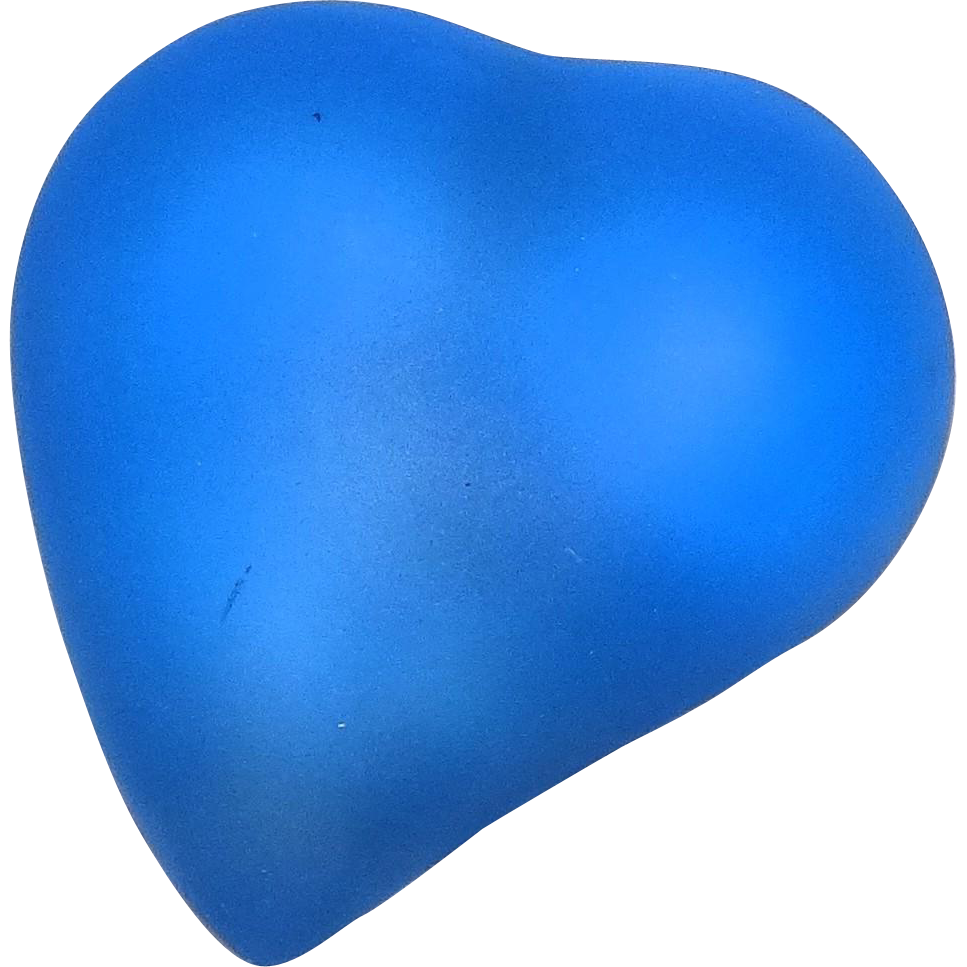 KOSTA BODA Frosted Rare Blue Heart For Your Valentine!